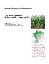 Bio-Montan-Park NRW: Modulsystem Bio-Parklandschaften