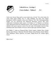 Fußball Herren - Kreisliga C - SV 1924 Nöthen