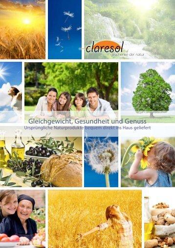 claresol-Katalog 2012 als PDF herunterladen