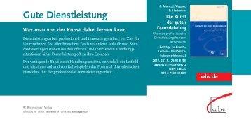 Gute Dienstleistung - W. Bertelsmann Verlag