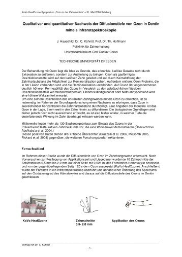 Qualitativer und quantitativer Nachweis der Diffusionstiefe ... - Gendex