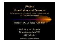 Phobie Verständnis und Therapie - Prof. Dr. Dr. Serge Sulz