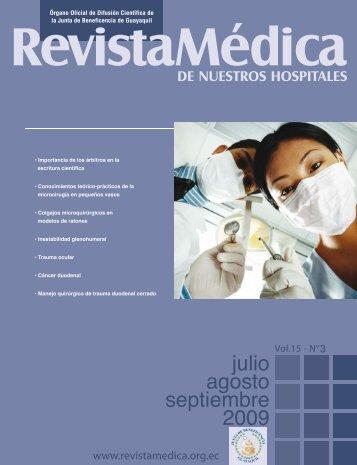 julio agosto septiembre 2009 - Revista Médica