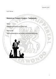 Referat zur Trainer-C-Lizenz - Taekwondo - SV Bayer Wuppertal