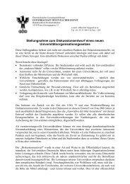 Stellungnahme zur Uni-Reform - ULV