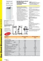 Gas-Stand-Brennwertkessel - Oertli