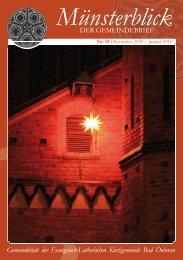 Münsterblick Nr. 91 für Dezember 2009 / Januar 2010 - Ev.-Luth ...