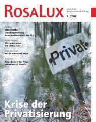 Krise der Privatisierung - Rosa-Luxemburg-Stiftung