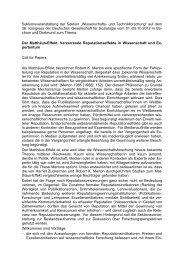Call for Papers - Deutsche Gesellschaft für Soziologie