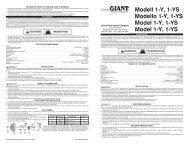 Modell 1-Y, 1-YS Modello 1-Y, 1-YS Model 1-Y, 1 ... - Franklin Electric