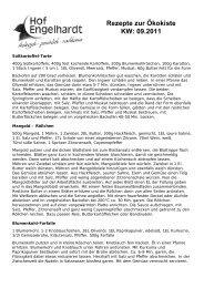 Rezepte zur Ökokiste KW: 09.2011 - Hof Engelhardt