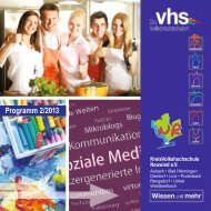 Programm 2/2013 - kvhs Neuwied eV