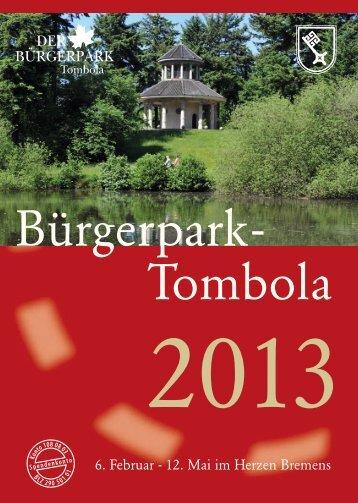 Broschüre 2013 - Bürgerpark-Tombola