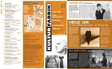 September - Kulturfabrik