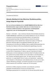 Presseinformation Aktueller Marktbericht über Münchner ...