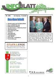 Infoblatt Nr. 249 vom 21.08.2007 - in St. Peter in der Au