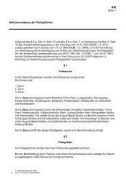 Gebührensatzung der Parkgebühren - Stadt Rüsselsheim