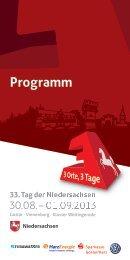 Programm - 33. Tag der Niedersachsen