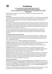 Vereinbarung - Jugendserver Niedersachsen