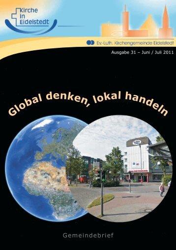 Gemeindebrief Juni - Juli 2011 - Kirchengemeinde Eidelstedt