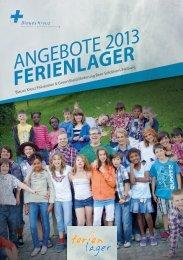 Ferienlager ANGEBOTE 2013 - Blaues Kreuz, Fachstelle für ...