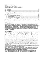 Erben und Vererben - Rechtsanwälte Schott-Lemmer