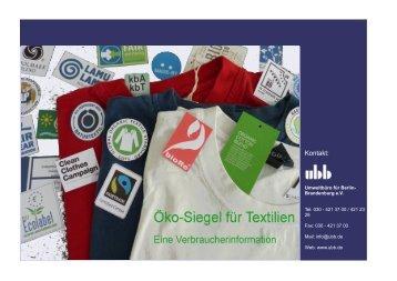 Öko-Siegel für Textilien – eine Verbraucherinformation - EcoTopTen