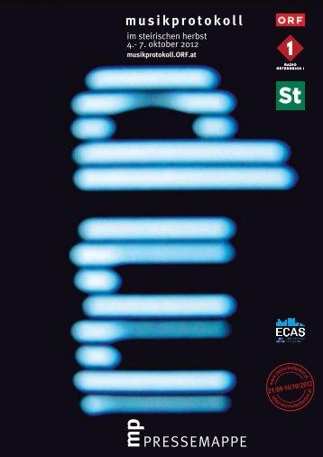 Pressemappe musikprotokoll 2012