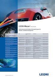 LEONI Mocar® - LEONI Business Unit Automotive Cables