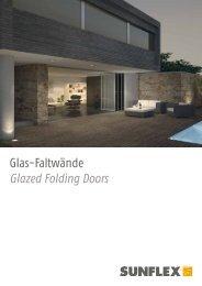 Glas-Faltwände Glazed Folding Doors