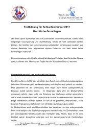Weiterbildung Schluchtenführer (Canyoningführer)