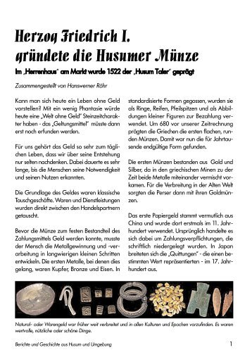 Hus. Münze A5- - Husum-berichte.de