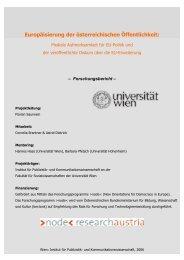 Europäisierung der österreichischen Öffentlichkeit: - node - new ...