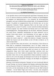 Matthias Freudenberg, Leben aus der Schrift. Die ... - reformiert-info.de