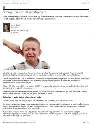 forskning.no > Strenge foreldre får umulige barn