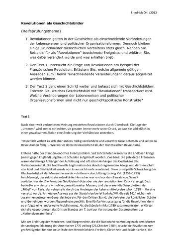 Revolutionen als Geschichtsbilder - Schule.at