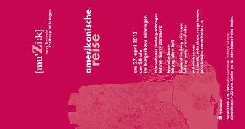 Programm Frühjahrskonzert 2013 - Musikverein Freiburg-Zähringen