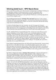 Bericht von der Kundgebung gegen die NPD - Klaus Ernst