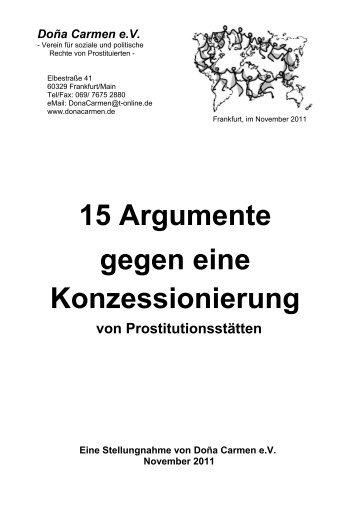 15 Argumente gegen eine Konzessionierung - Dona Carmen e. V.