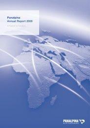 Panalpina Annual Report 2008