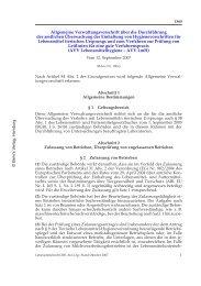 Allgemeine Verwaltungsvorschrift über die Durchführung der ...