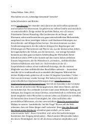 """Tabea Dölker Febr. 2011 Was haben wir als """"Lebendige Gemeinde ..."""