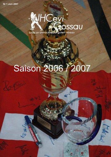 Saison 2006 / 2007 - UHCevi Gossau