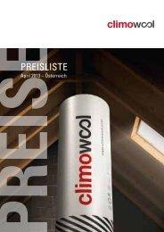 Climowool Preisliste / Katalog - Aisla