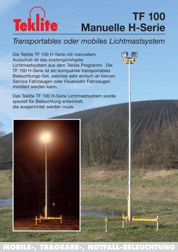 PP 1374-D NV-GmbH TF 100 H Serie leaflet A4 - Teklite