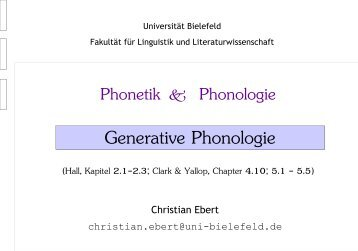 Generative Phonologie