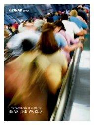 Geschäftsbericht 2006/07 - Sonova