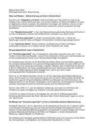 Säkularisierung und Islam in Deutschland Wie - Gökkuşağı ...