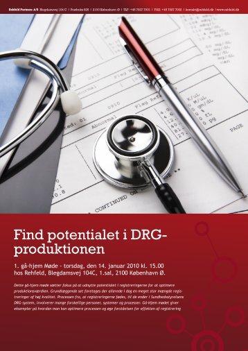 Find potentialet i DRG- produktionen - Rehfeld