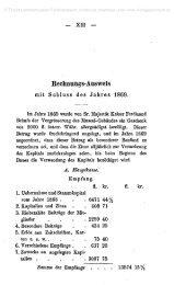 — xni — Kechmmgs-Ausweis mit Schluss des Jahres 1869.